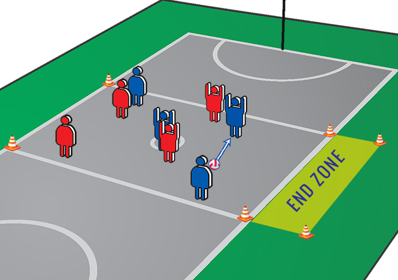 Netball Exercises: Restricted Zone Passing