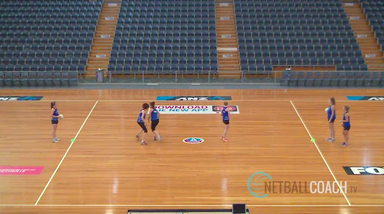 Netball Coaching Drills: Dodging Past Two Defenders