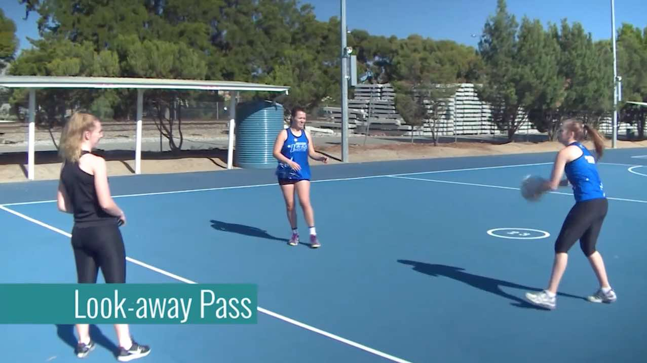 Kids Netball Drills: Look-away Pass