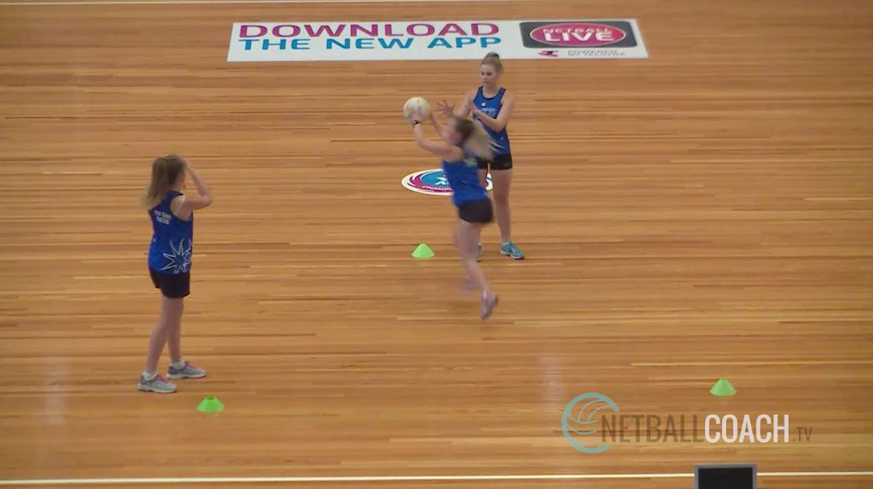 Drills For Netball: Pass then Intercept