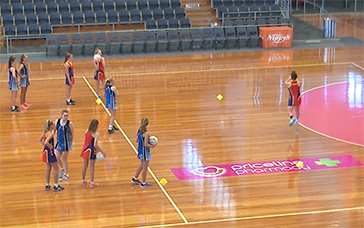 Netball Skills Training: Double Play to Top of Circle