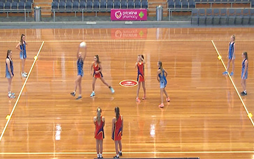 Netball Training Drills For Adults: 2-on-2 Over a Third