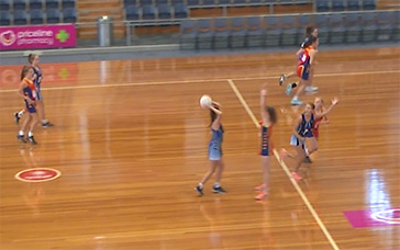 Netball Training Drills For Adults: Centre Pass: (C) Double Play