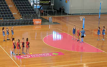 Netball Coaching Drills: Approach Within the 45 Marks