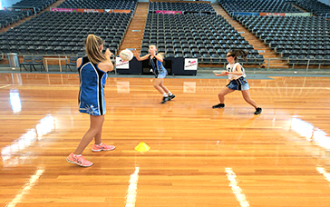 Netball Coaching Drills: Covering the Open Wing