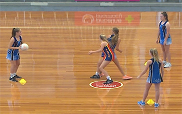 Netball Drills: Passing Triangles with Fast Feet Defender