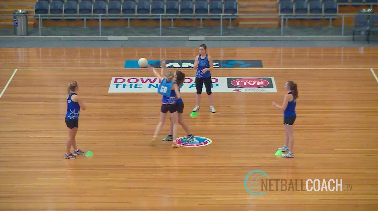 Netball Skills and Drills: Front Defensive Stance in the Triangle