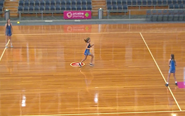 Netball Warm Ups: Full-court Double Play Movement