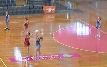 Netball Plays: Attempt the Intercept, or Cover the Goalie