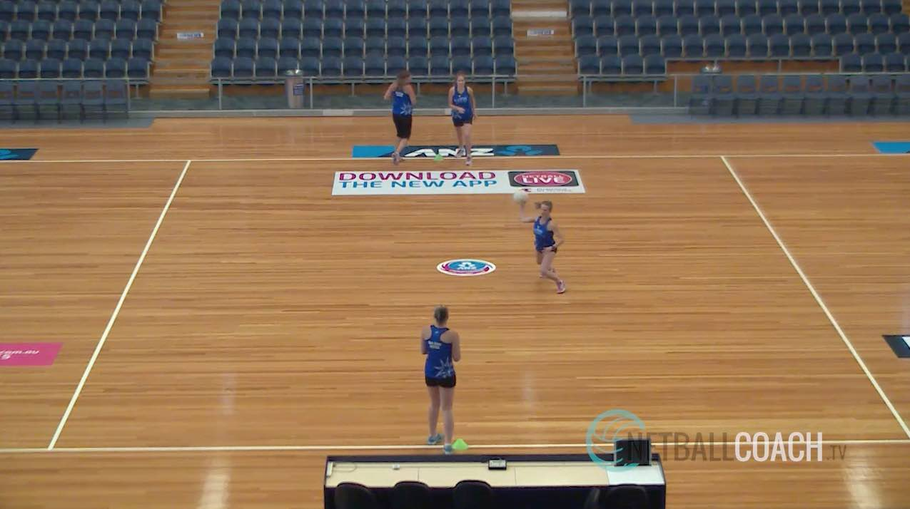 Netball Skills Drills: Lead-up, Pass Back