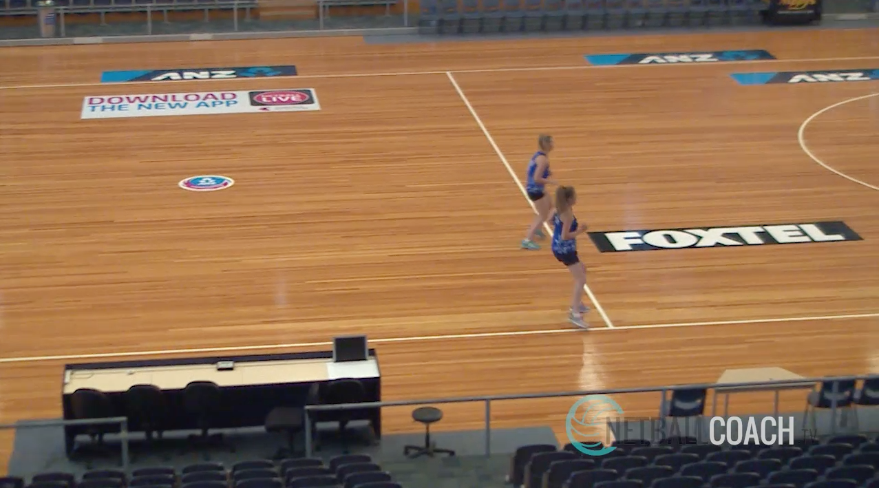 Netball Skills Drills: Fast Feet Caterpillar Runs