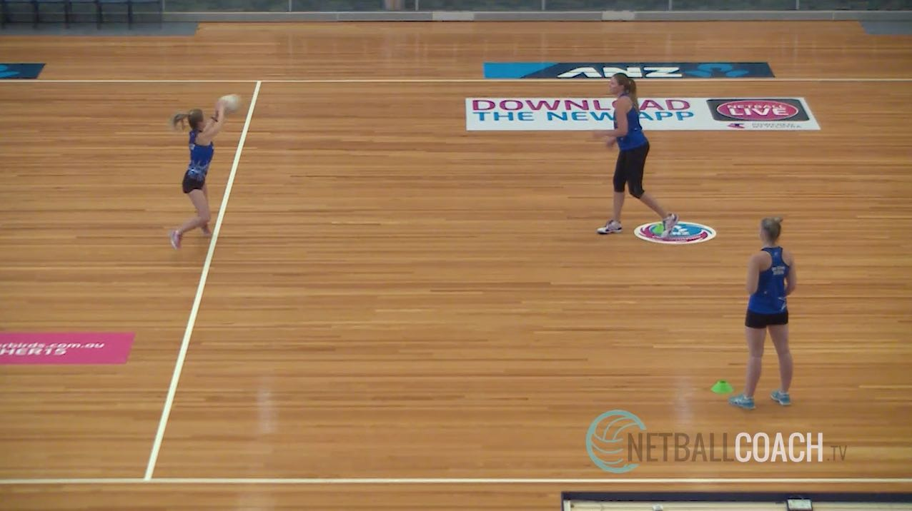Junior Netball Coaching Drills: Momentum Shift Shuttles