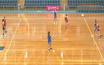 Netball Set Plays: Round the Recipient Diamond
