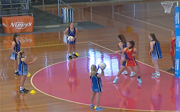 Netball Training Sessions: Quicker Held Ball Violation Game