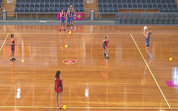 Netball Drill: Receive in Tight, Then in Space