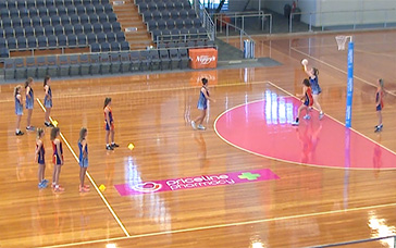 Free Netball Coaching Drills: First Circle Catch Rebound Contest