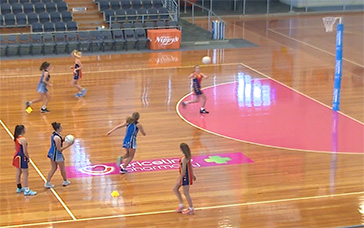 Free Netball Coaching Drills: Pass then Circle Defence
