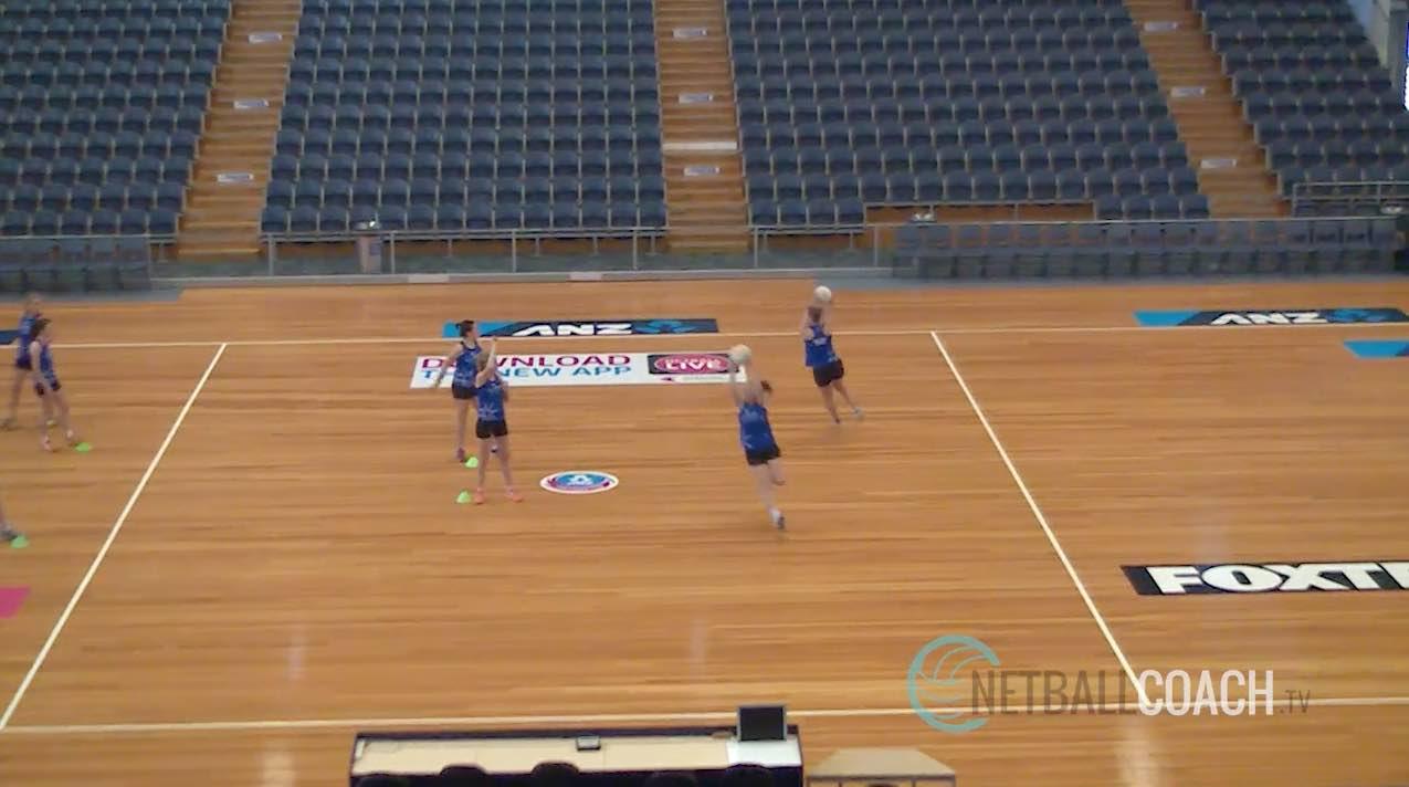 Netball Skills: Pass and Run Ahead