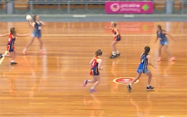 Netball Warm Up Drills: Offline Defence