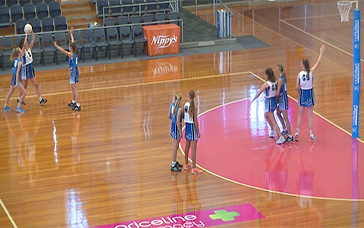 Netball Workouts: Goal Third (Outer) Penalty Pass